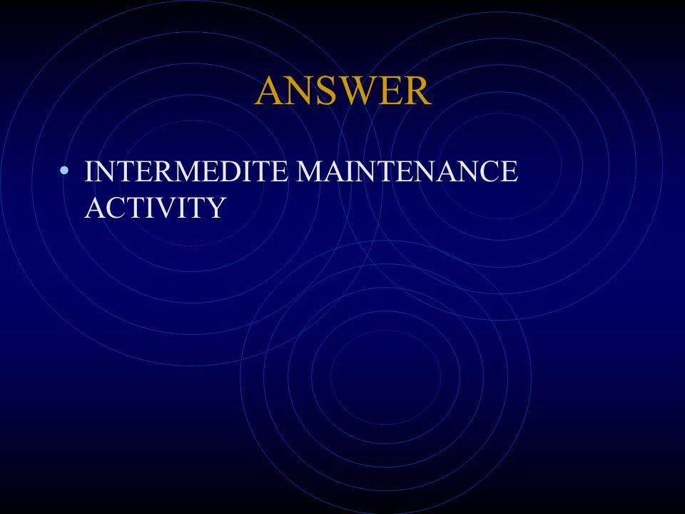 ANSWER INTERMEDITE MAINTENANCE ACTIVITY