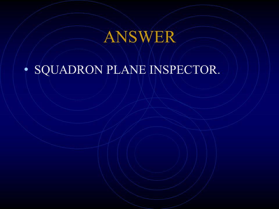 ANSWER SQUADRON PLANE INSPECTOR.