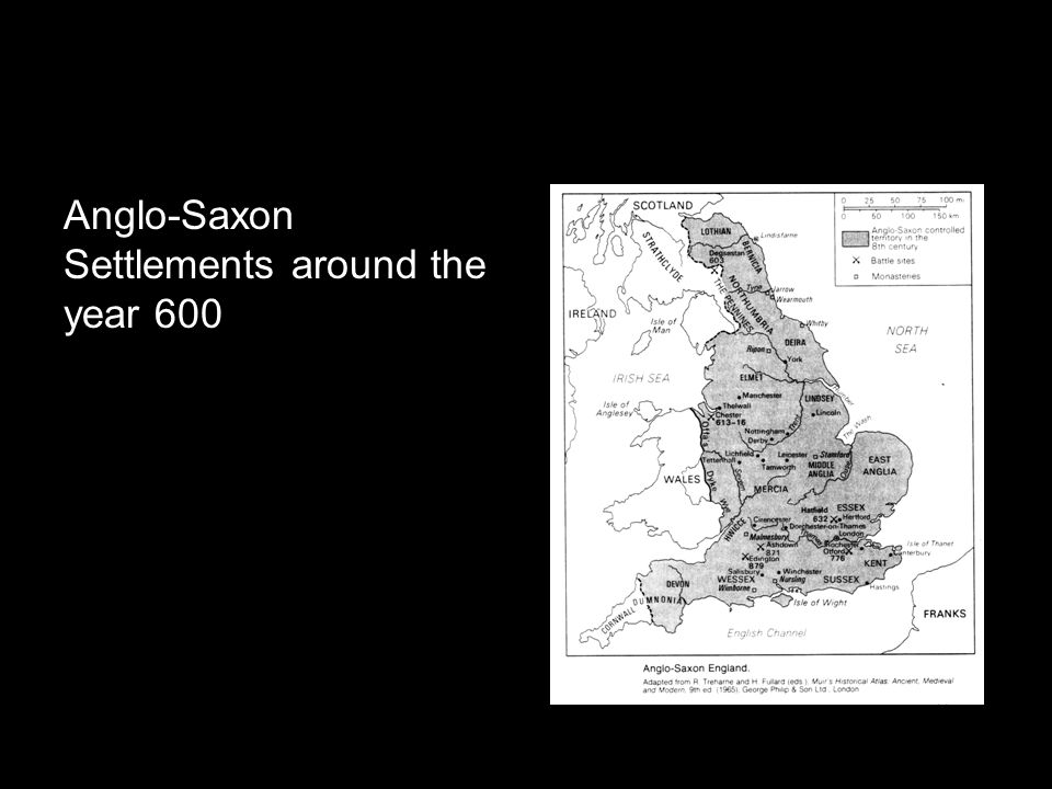 Anglo-Saxon Settlements around the year 600