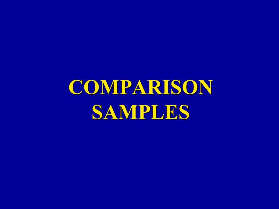 COMPARISON SAMPLES