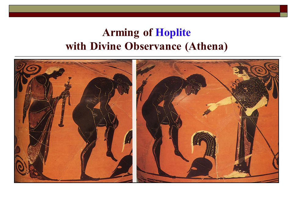 Arming of Hoplite with Divine Observance (Athena)