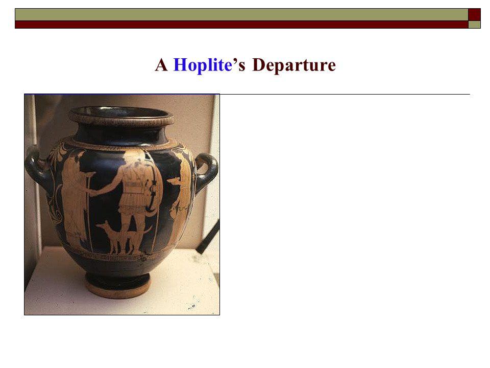 A Hoplite's Departure
