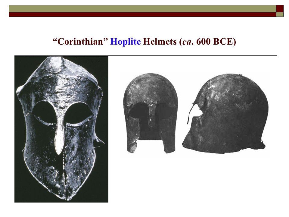 """""""Corinthian"""" Hoplite Helmets (ca. 600 BCE)"""