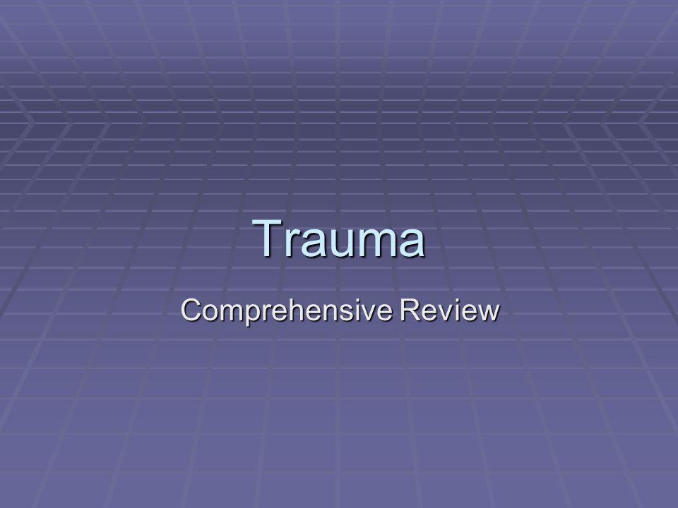 Trauma Comprehensive Review