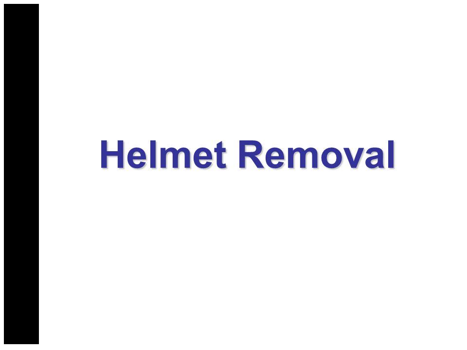 Helmet Removal