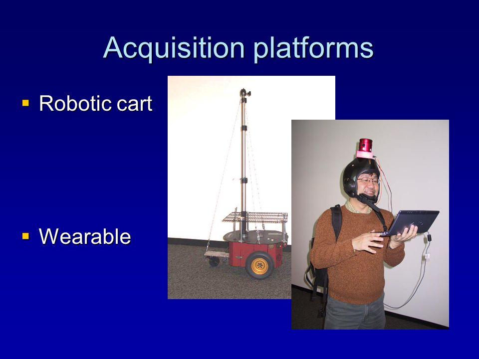 Acquisition platforms  Robotic cart  Wearable