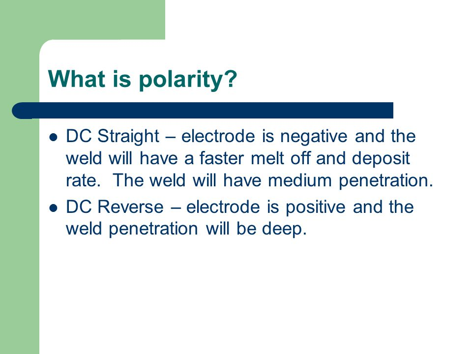What is polarity.