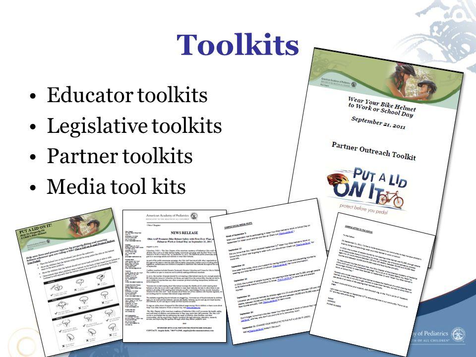 Toolkits Educator toolkits Legislative toolkits Partner toolkits Media tool kits