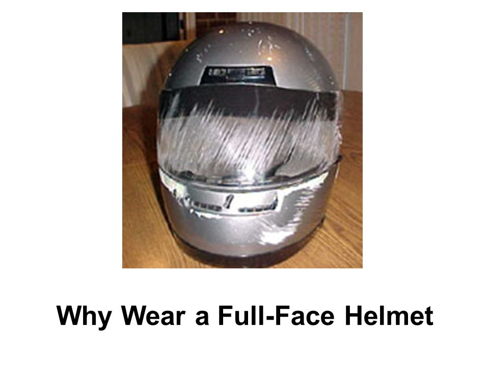 Why Wear a Full-Face Helmet