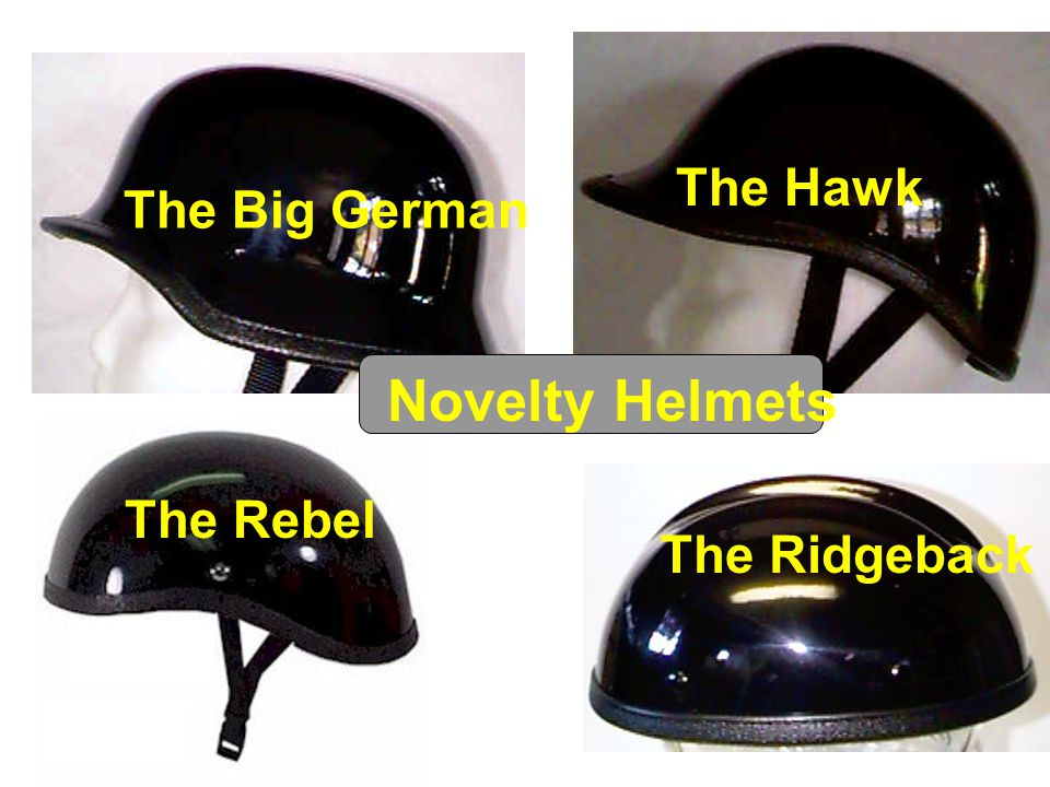 The Big German The Rebel The Hawk The Ridgeback Novelty Helmets
