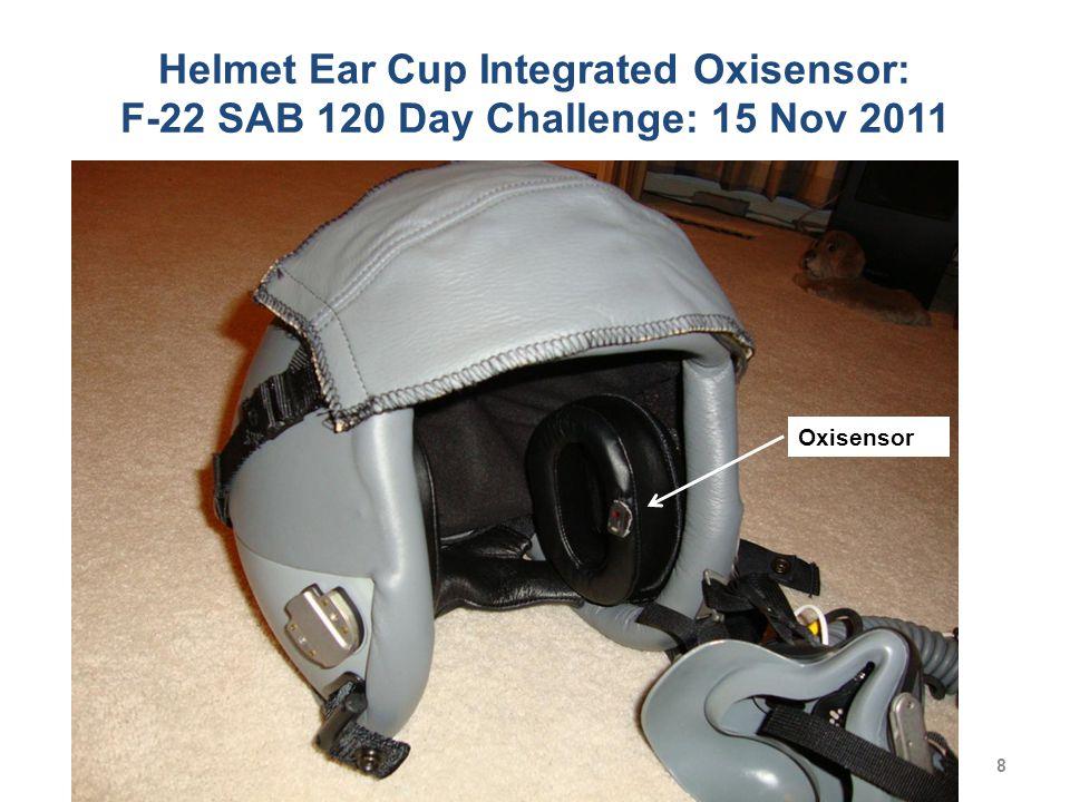 Helmet Ear Cup Integrated Oxisensor: F-22 SAB 120 Day Challenge: 15 Nov 2011 Oxisensor 8
