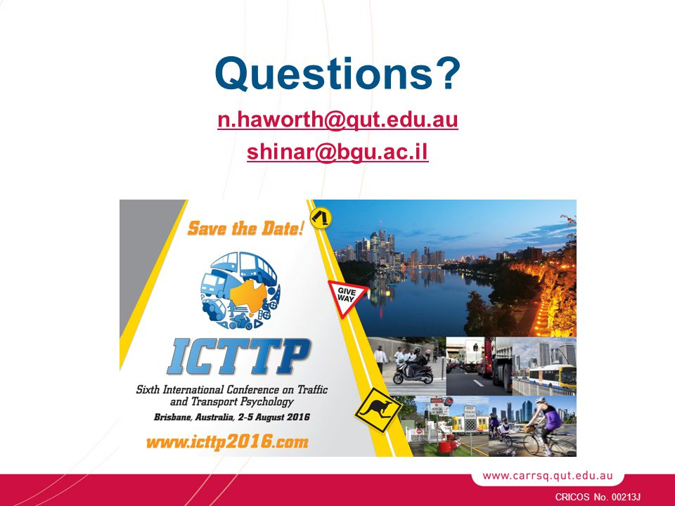 Questions n.haworth@qut.edu.au shinar@bgu.ac.il CRICOS No. 00213J