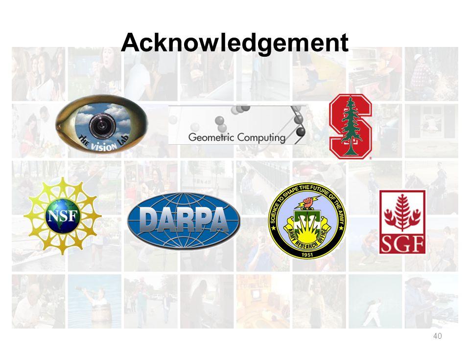 40 Acknowledgement