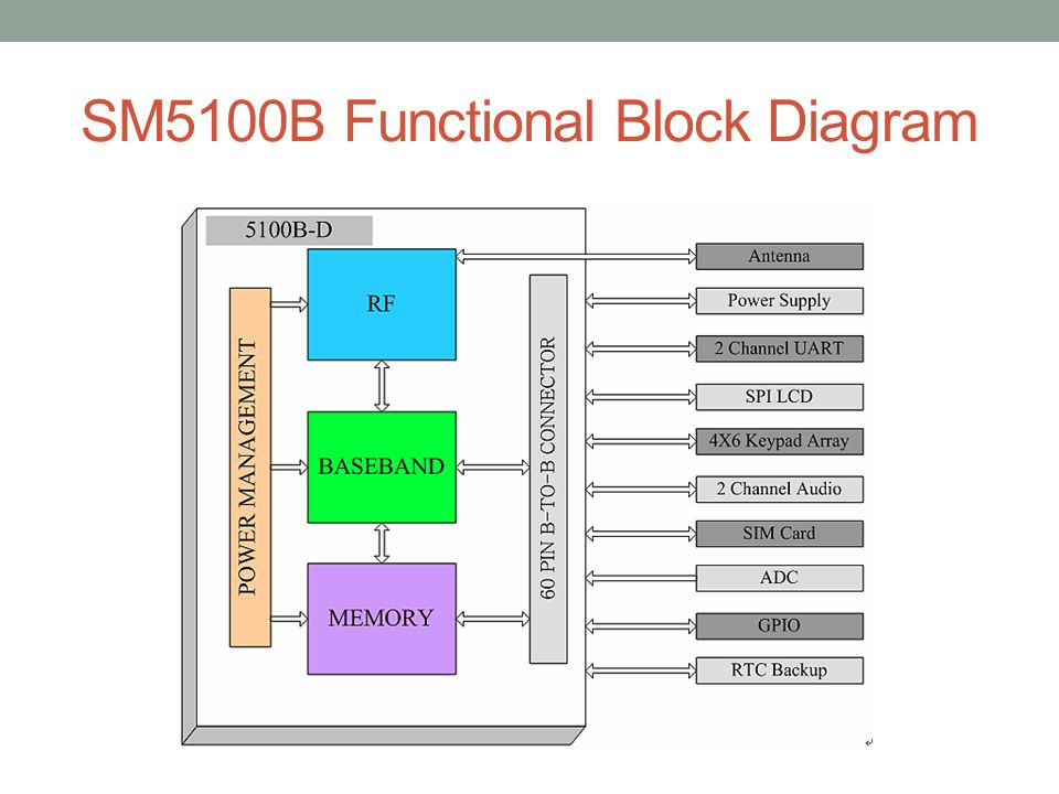 SM5100B Functional Block Diagram
