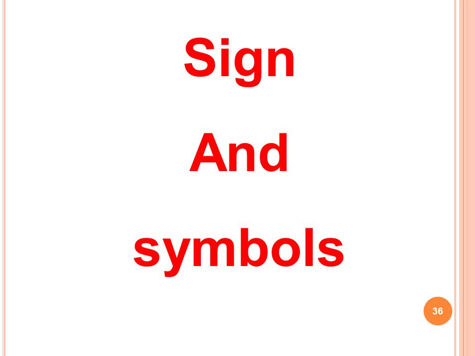 36 Sign And symbols