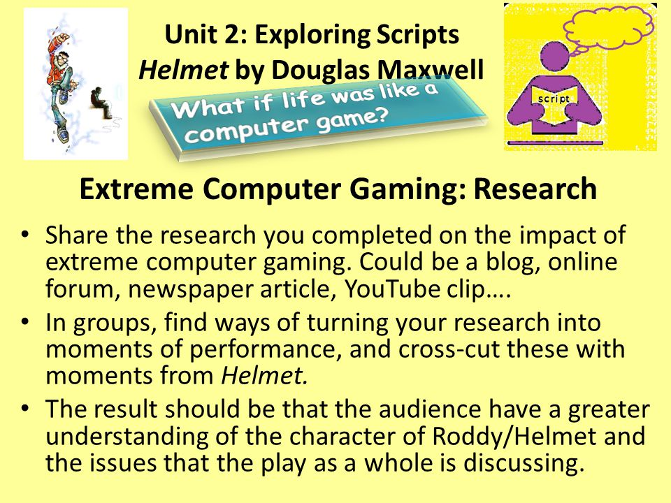 Extreme Computer Gaming: Research Share the research you completed on the impact of extreme computer gaming.