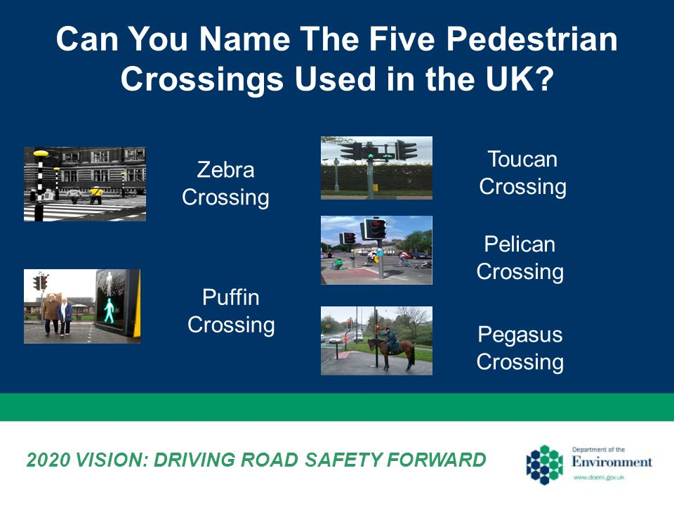 Can You Name The Five Pedestrian Crossings Used in the UK.