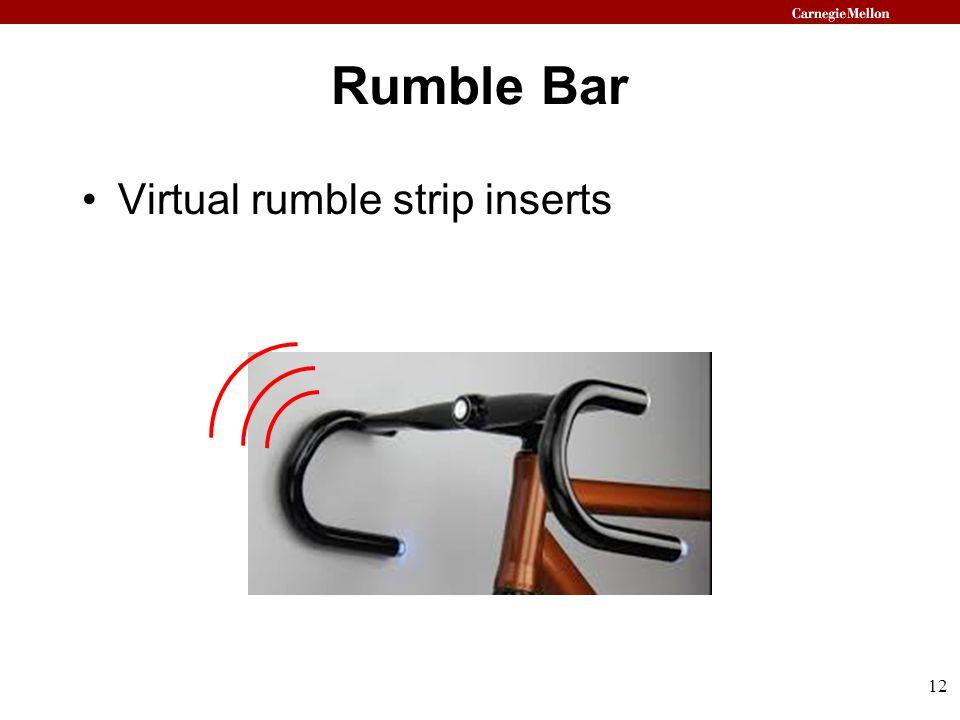 Rumble Bar Virtual rumble strip inserts 12