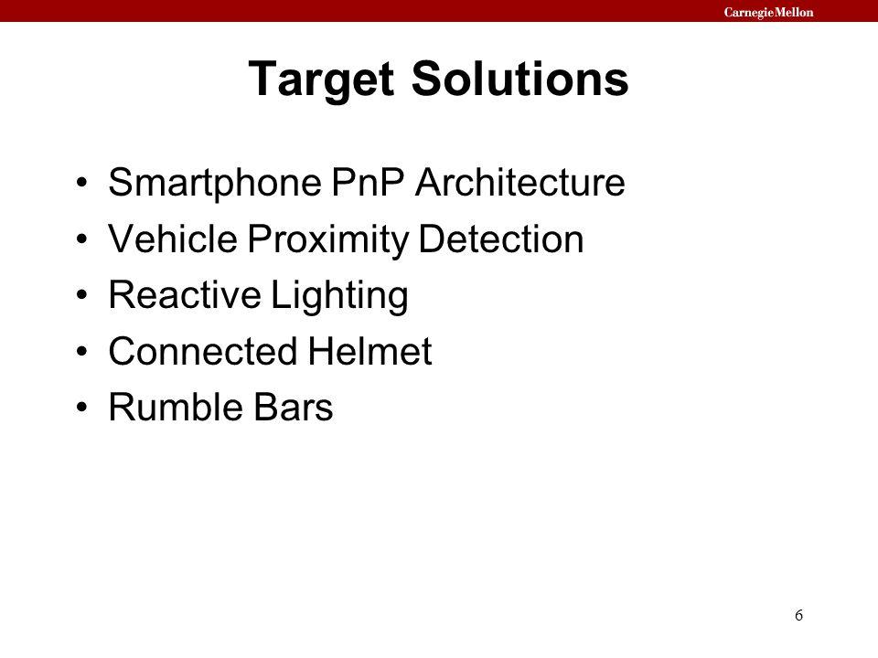 Target Solutions Smartphone PnP Architecture Vehicle Proximity Detection Reactive Lighting Connected Helmet Rumble Bars 6
