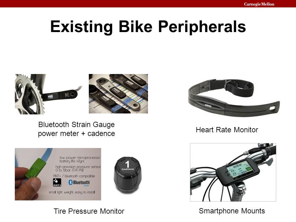 Existing Bike Peripherals Bluetooth Strain Gauge power meter + cadence Heart Rate Monitor Smartphone Mounts Tire Pressure Monitor