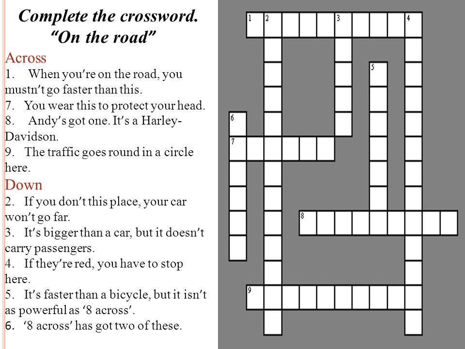 Complete the crossword.