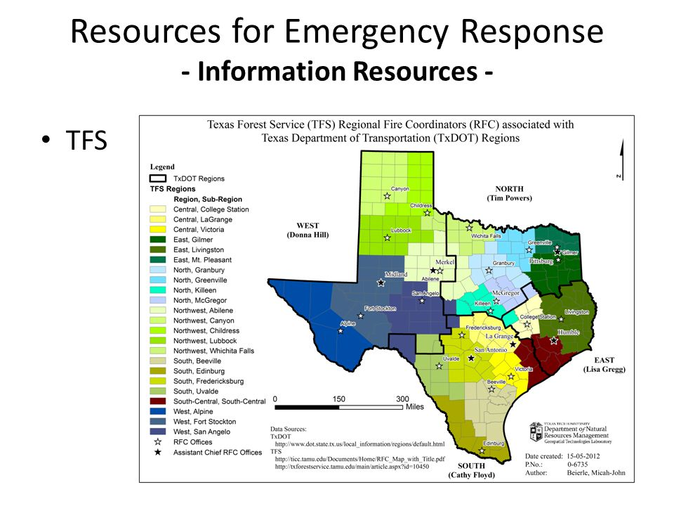 TFS Resources for Emergency Response - Information Resources -