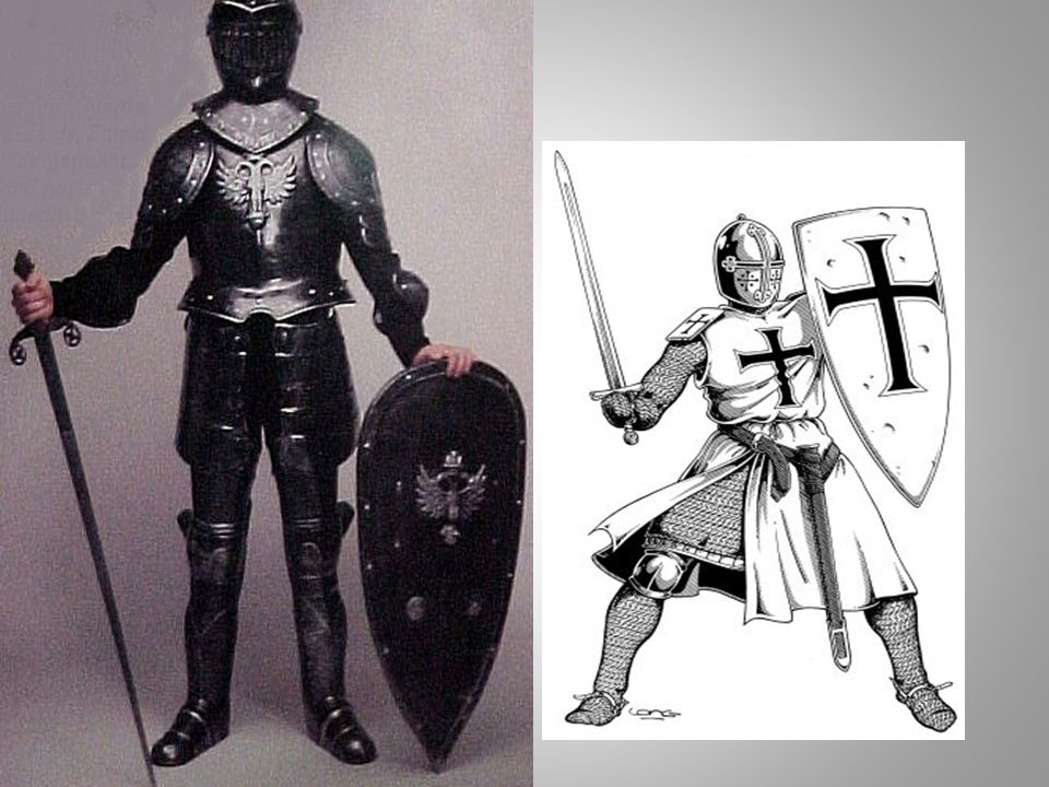 Warfare: Armor Knights in the Middle Ages wore armor in battle and were heavily armed. Armor was made of chain mail—small, interlocking metal links st