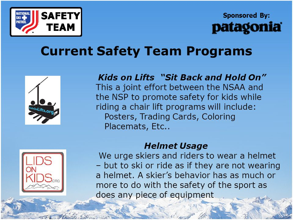 Sponsored By: Helmet Awareness Stickers given out during safety talks