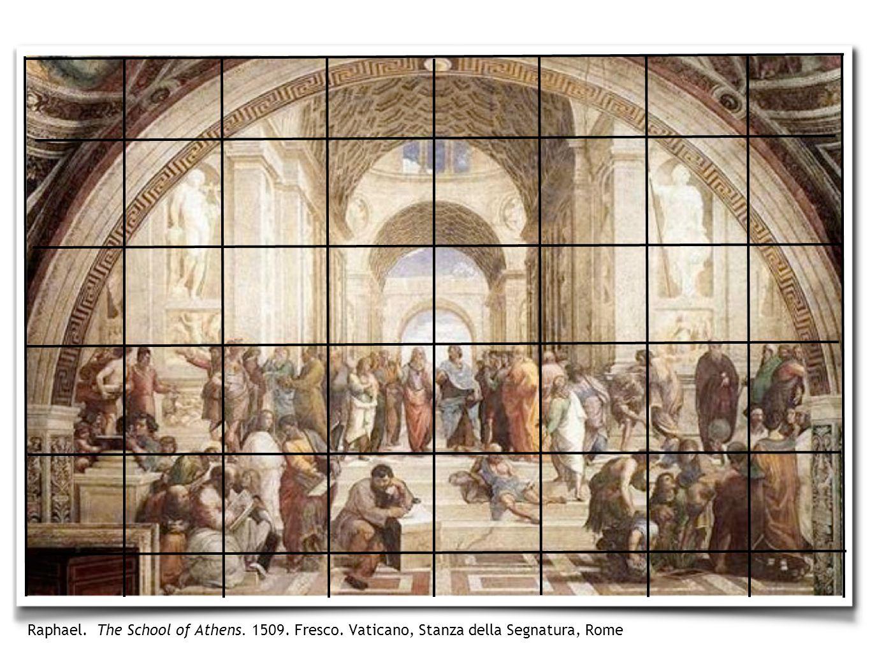Raphael. The School of Athens. 1509. Fresco. Vaticano, Stanza della Segnatura, Rome