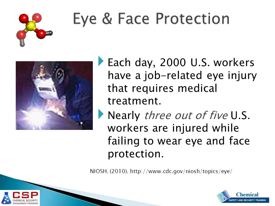  Each day, 2000 U.S. workers have a job-related eye injury that requires medical treatment.