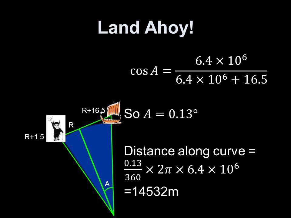 Land Ahoy! R+1.5 R+16.5 A R