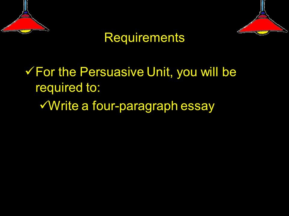 Persuasive Writing oEach persuasive essay will need to address the argument and the counterargument.