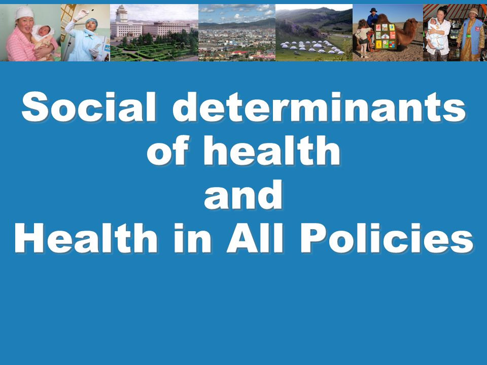 2 Policy and planning Key message Universal health coverage (UHC) and health equity cannot be achieved without action on social determinants of health and coherent recognition of health across other sectors