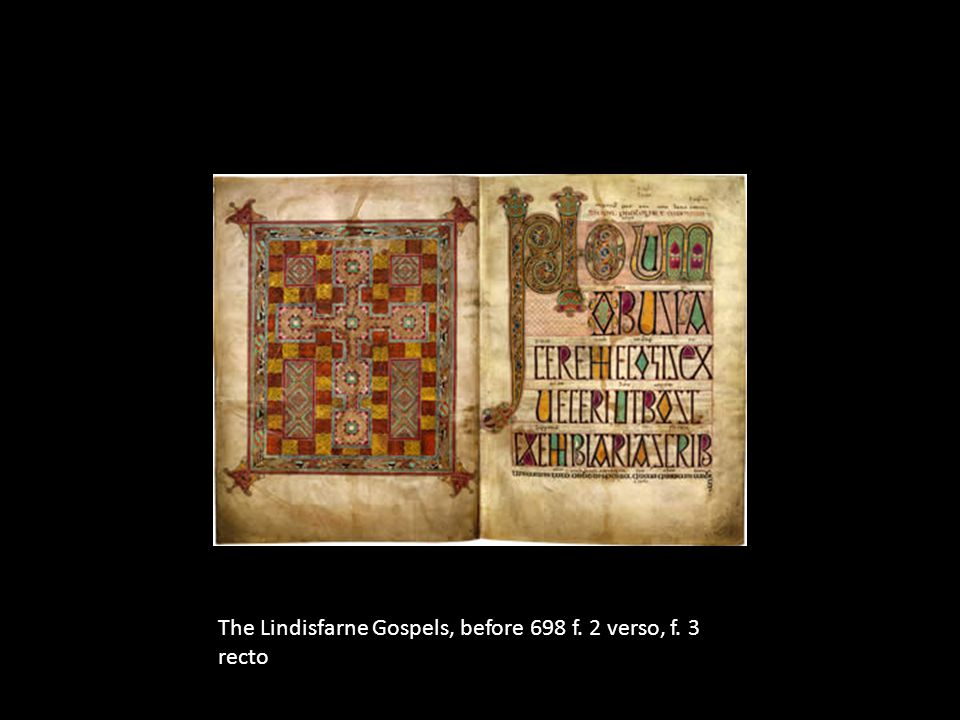 The Lindisfarne Gospels, before 698 f. 2 verso, f. 3 recto
