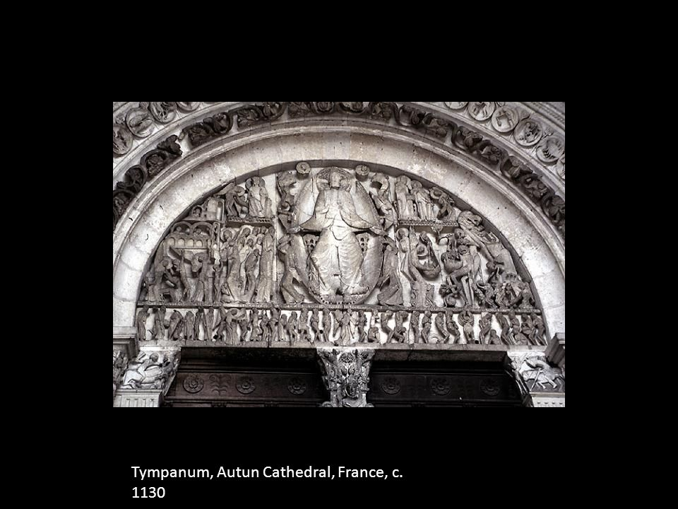 Tympanum, Autun Cathedral, France, c. 1130