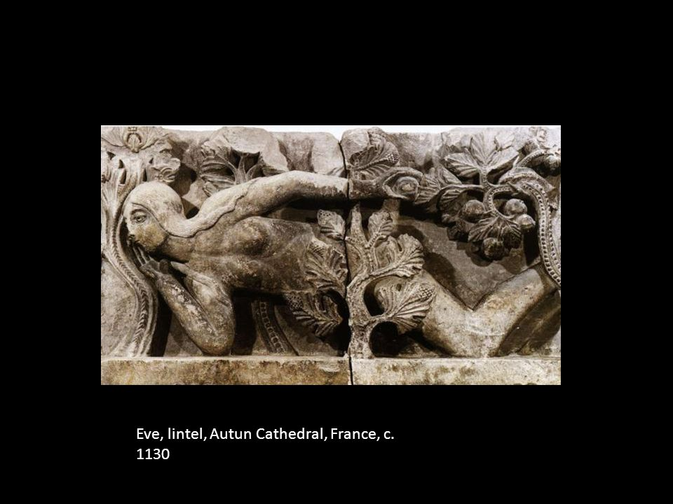 Eve, lintel, Autun Cathedral, France, c. 1130