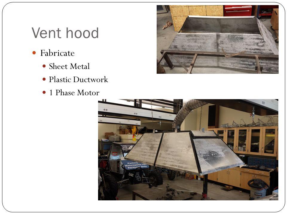 Vent hood Fabricate Sheet Metal Plastic Ductwork 1 Phase Motor
