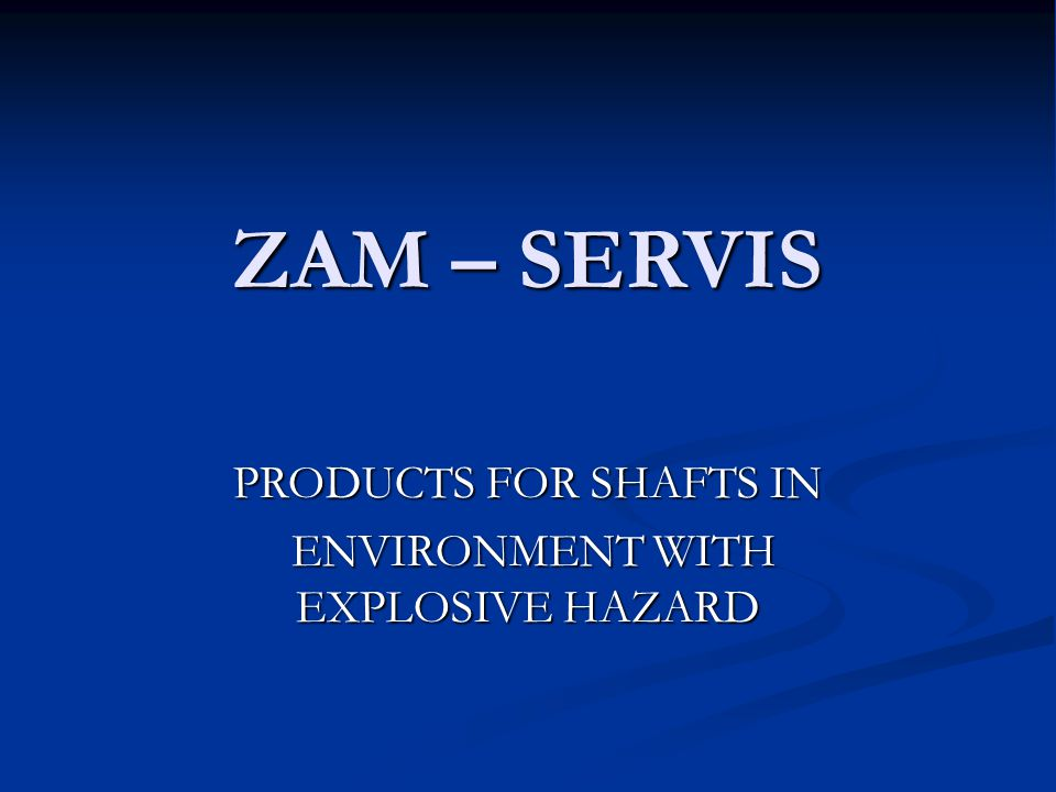 ZAM – SERVIS, s.r.o.We are a private independent company.