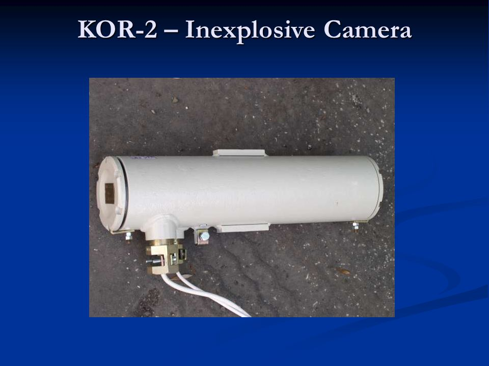 The KOR-2.1 industrial camera is intended for a remote monitoring of devices and the course of technological processes in underground mines in the areas where there is no permanent operation staff and in the places with the increased hazard of methane explosion (SNM 2) and shock bumps.