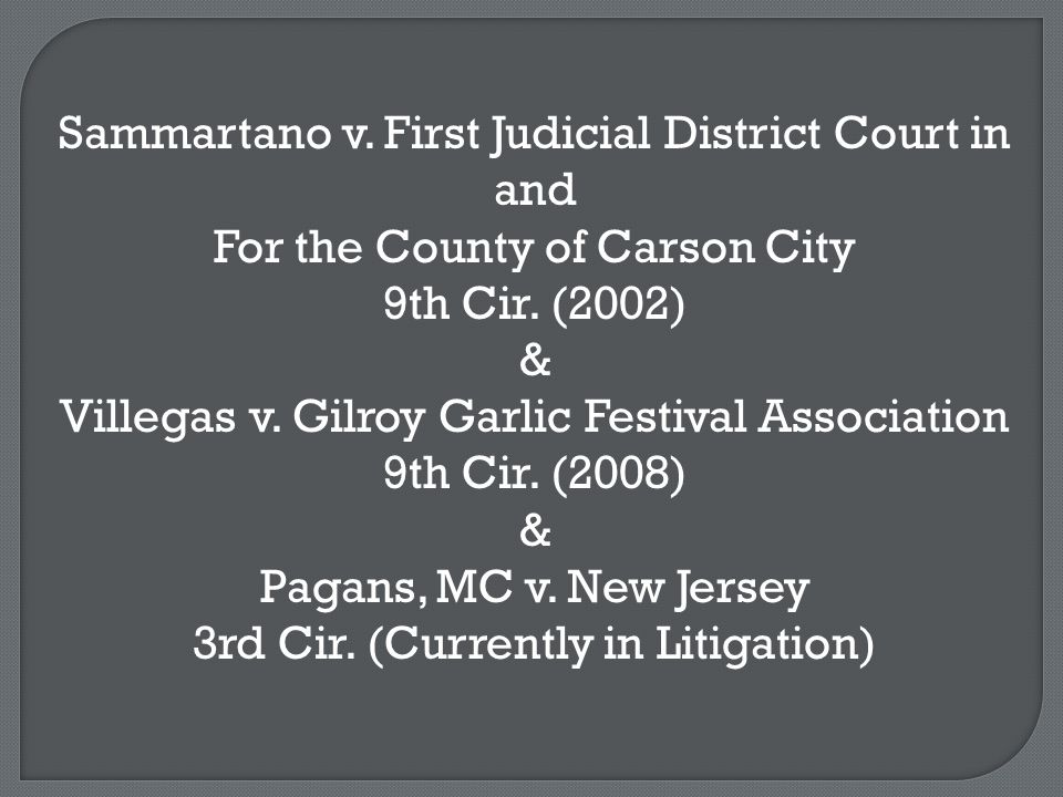 Sammartano v. First Judicial District Court in and For the County of Carson City 9th Cir.