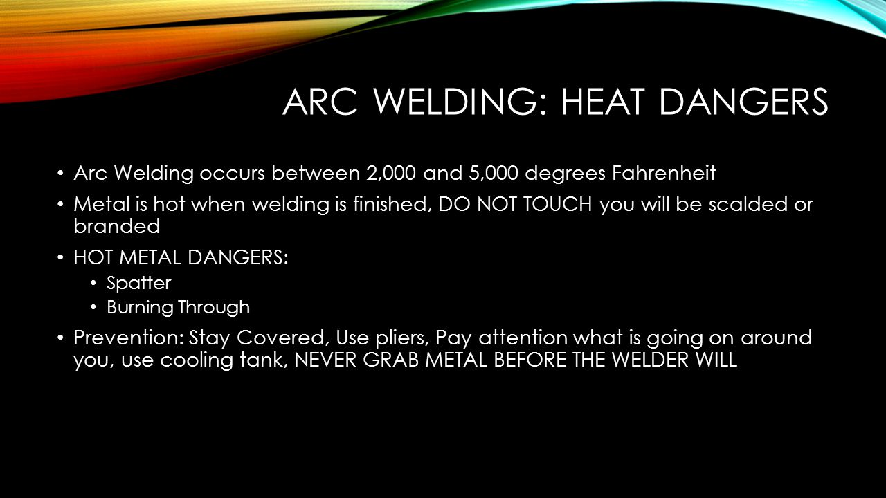 ARC WELDING: BOOTH AND PART I.D.