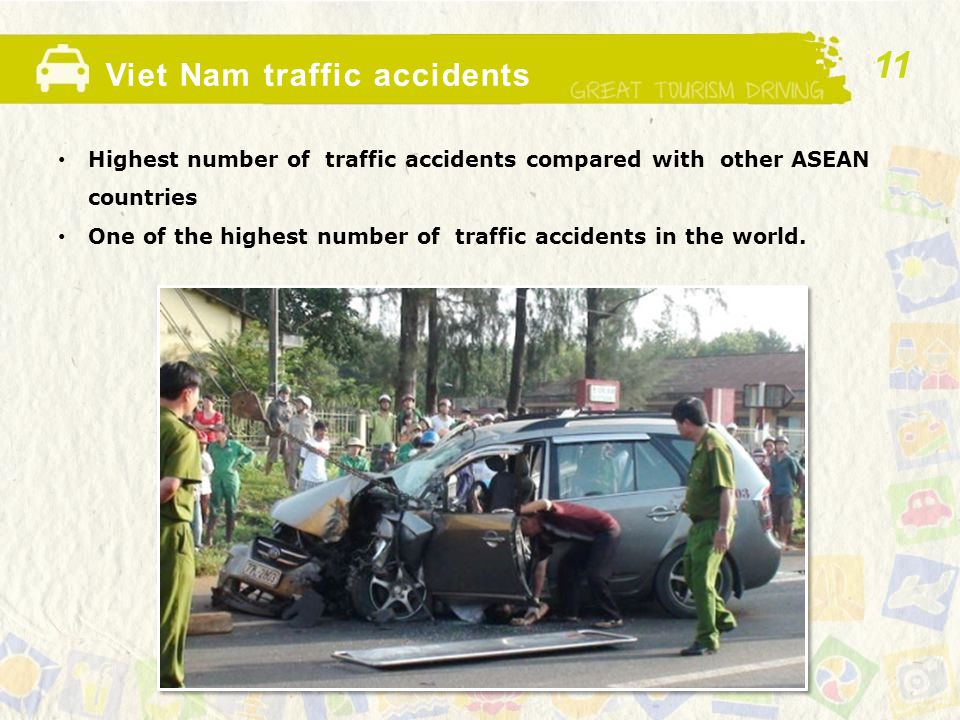 Viet Nam traffic accidents Highest number of traffic accidents compared with other ASEAN countries One of the highest number of traffic accidents in the world.