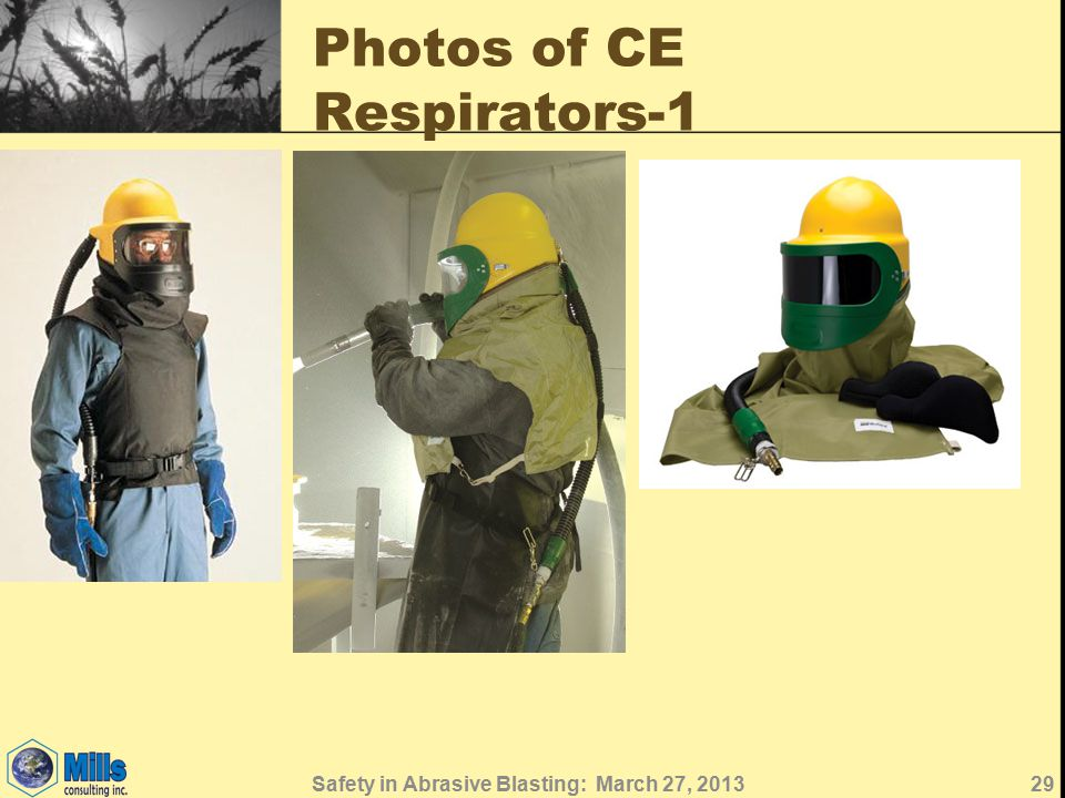 Photos of CE Respirators-1 29Safety in Abrasive Blasting: March 27, 2013