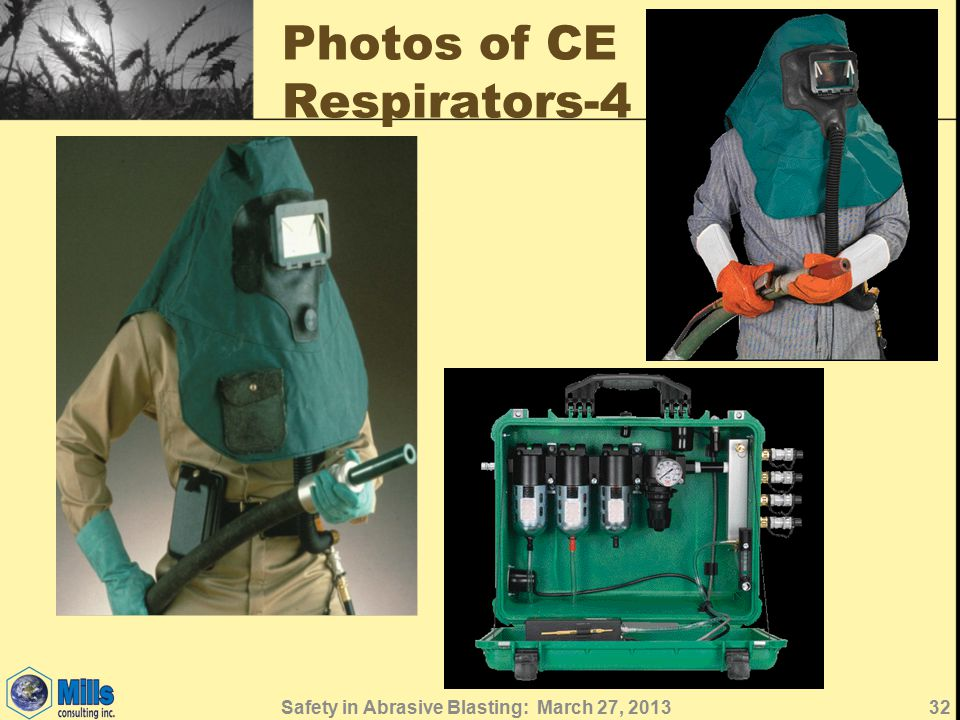 Photos of CE Respirators-4 Safety in Abrasive Blasting: March 27, 201332