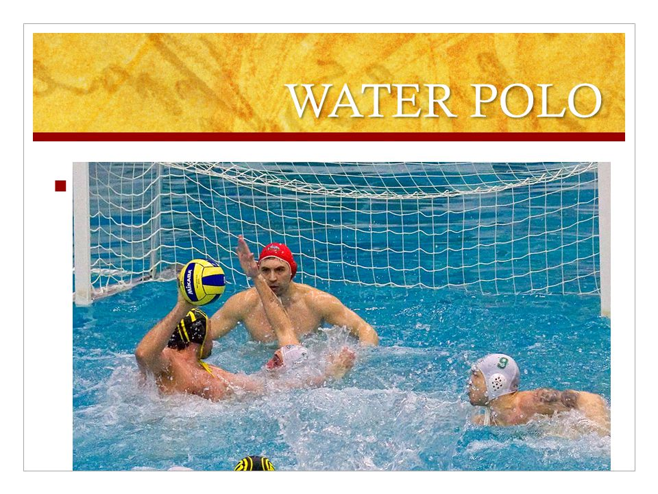 WATER POLO To do this sport you need a swimming suit, a swimming- pool, a ball and a goal.