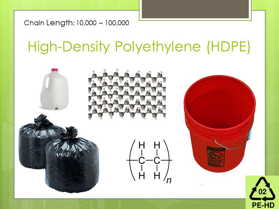 High-Density Polyethylene (HDPE) Chain Length : 10,000 – 100,000
