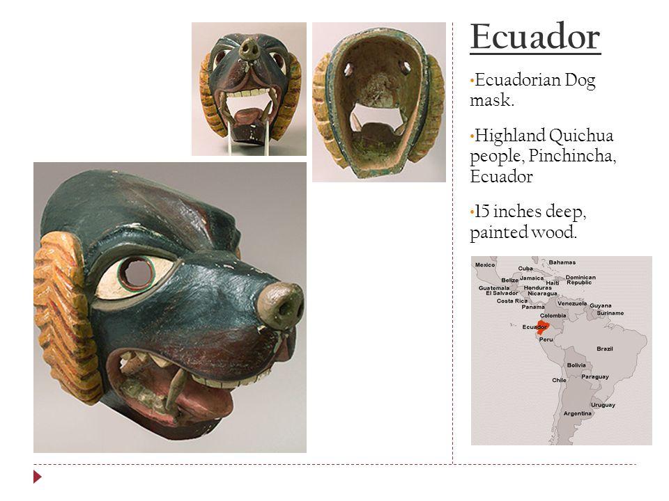 Ecuador Ecuadorian Dog mask.