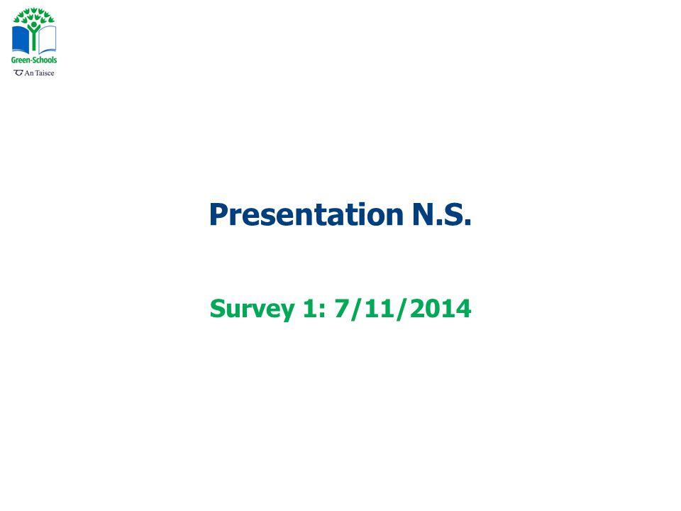 Presentation N.S. Survey 1: 7/11/2014
