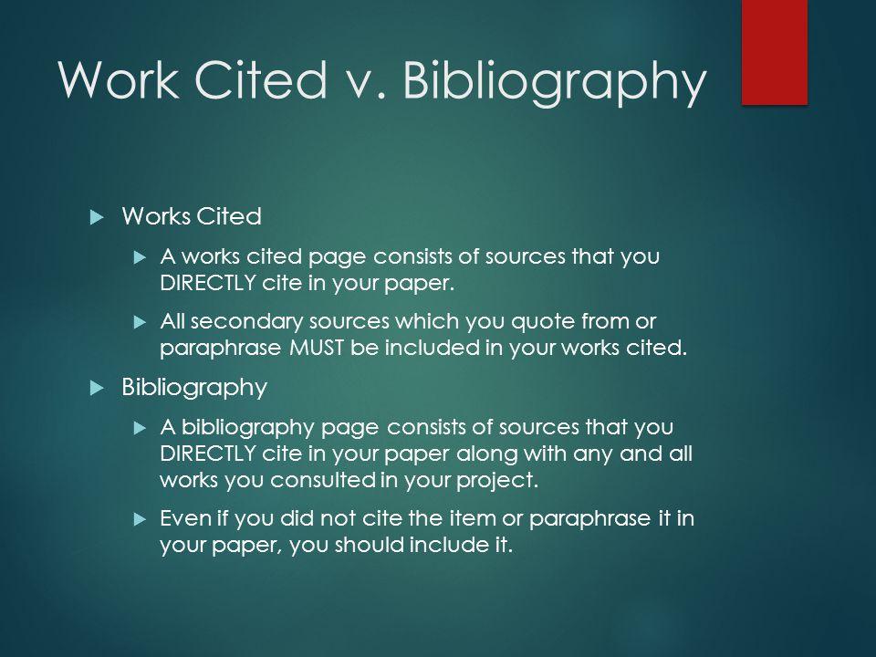 Work Cited v.