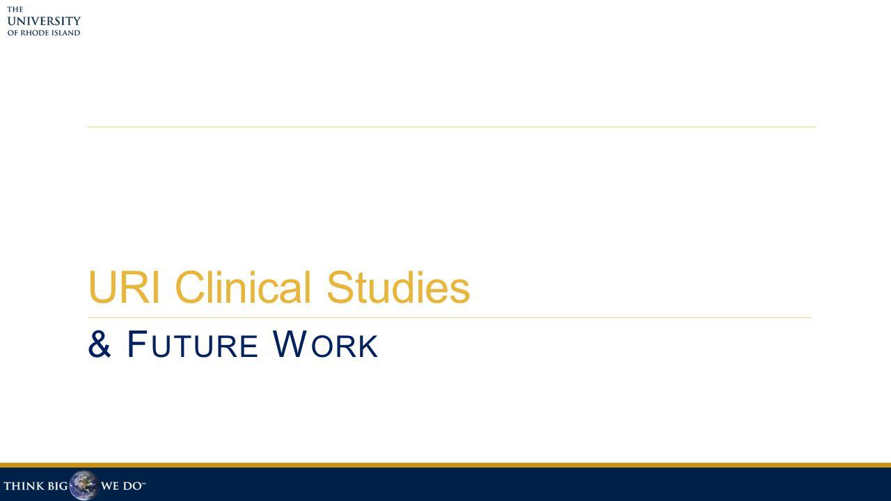 URI Clinical Studies & F UTURE W ORK